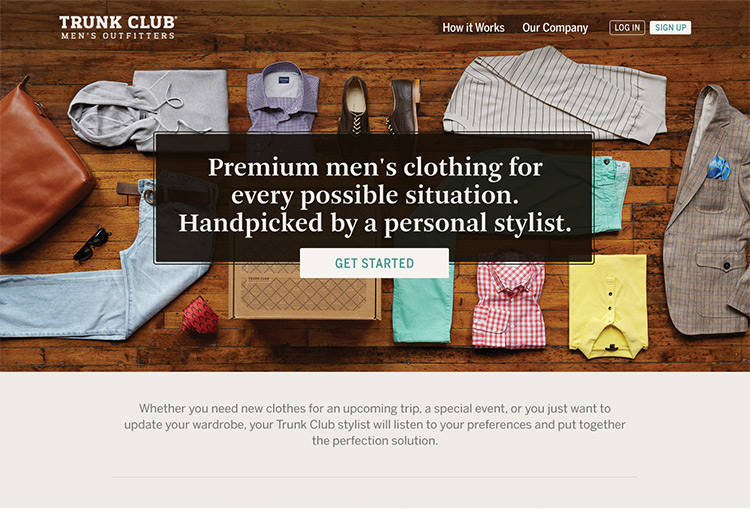 Trunk Club website